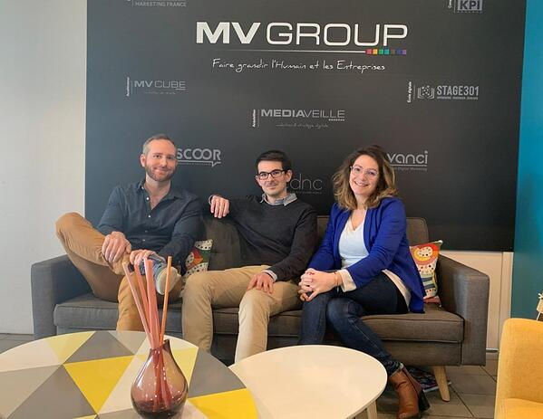 Pierre, Baptiste et Noémie, professionnels de la data chez Avanci et impliqués dans la formation de Data Analyst