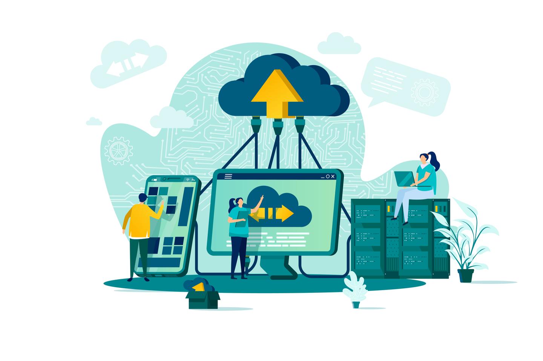 Illustration du concept de stockage de données